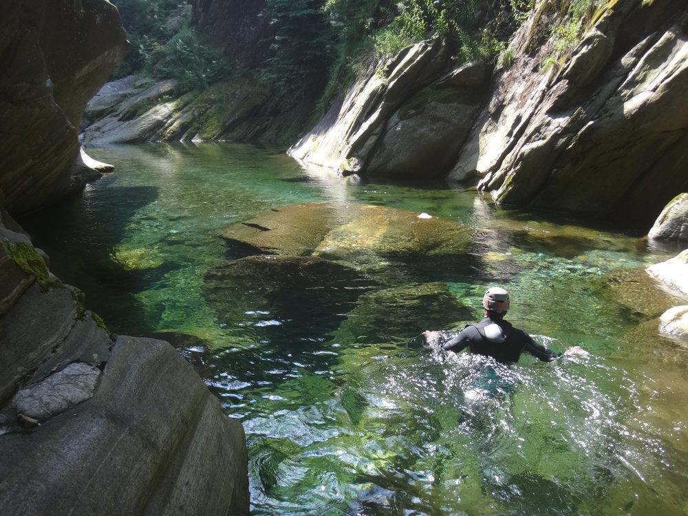 canyoning lago di como