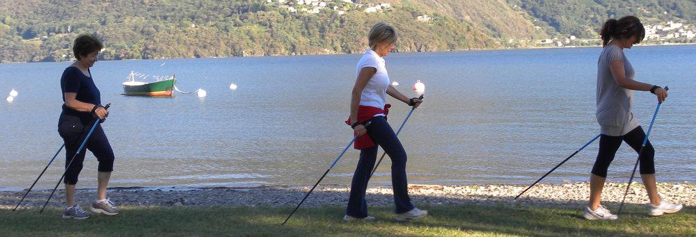 camminata sul lago di como