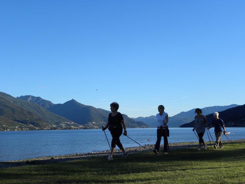 nordic walking lago di como