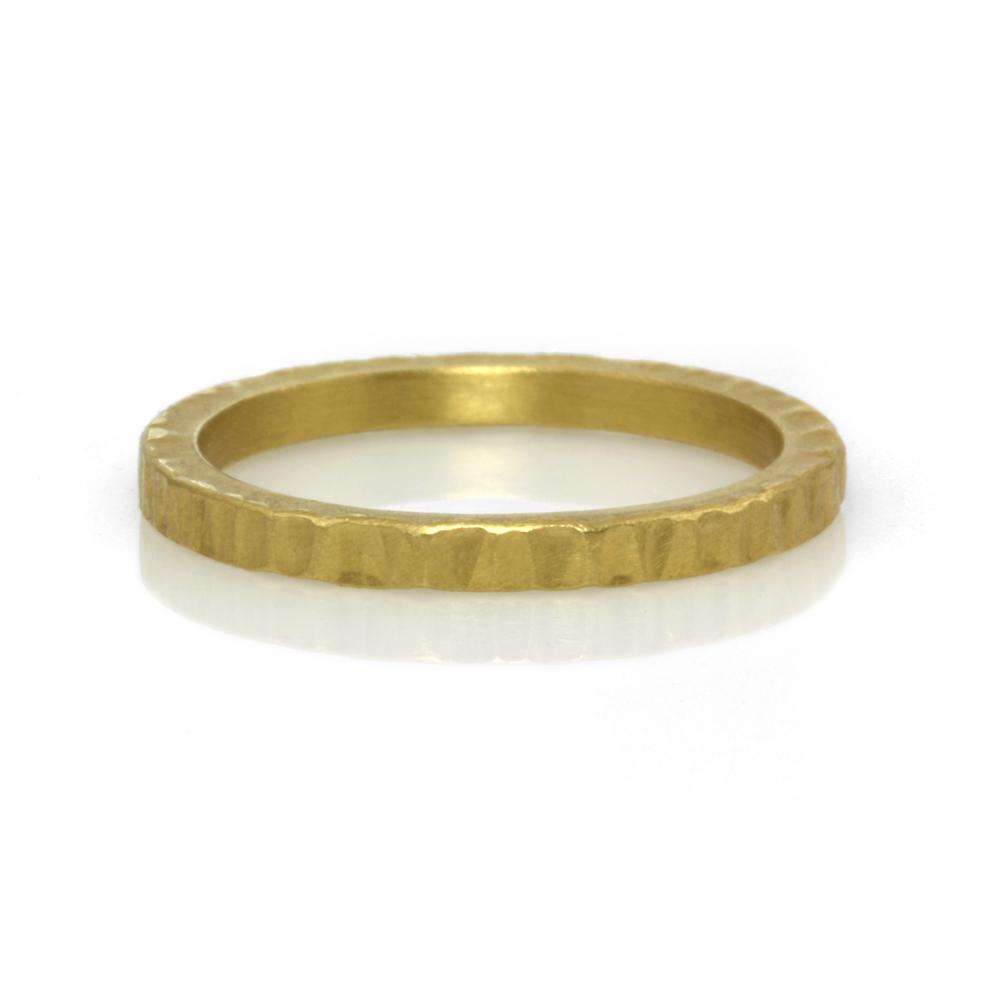 22kt gold stack ring