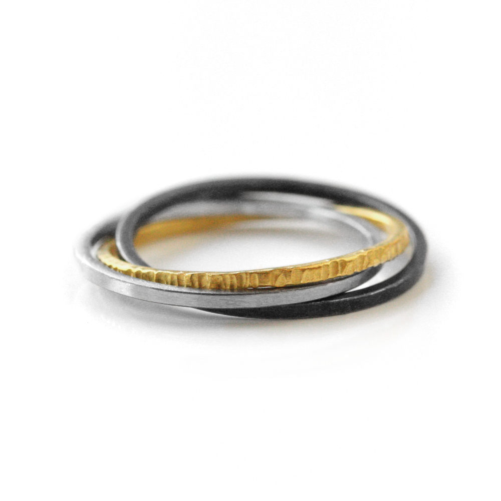 """FAIRMINED 22kt gold """"interconnected"""" ring"""