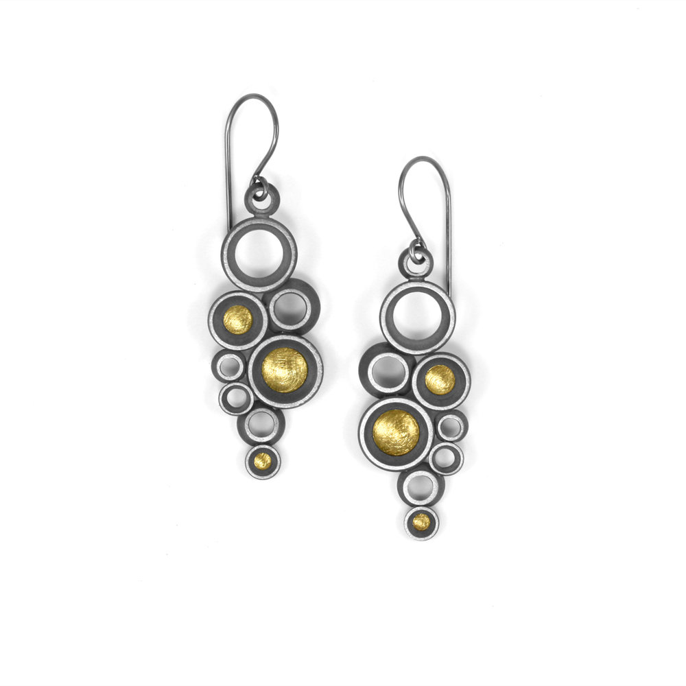 "concave~convex FAIRMINED ""prime"" earrings"