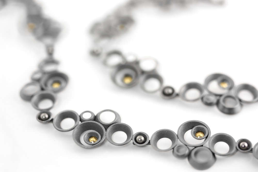 """concave~convex FAIRMINED """"infinity"""" necklace"""