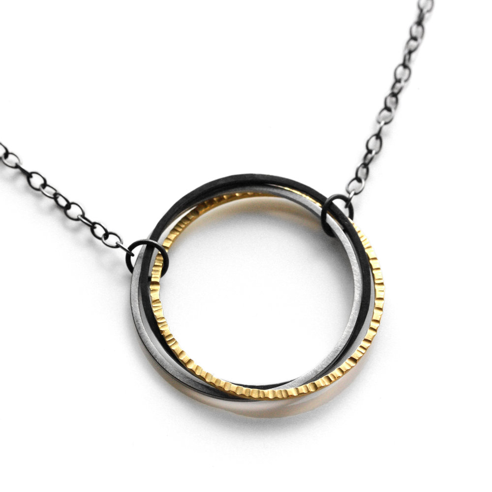 """FAIRMINED 22kt gold """"interconnected"""" necklace"""