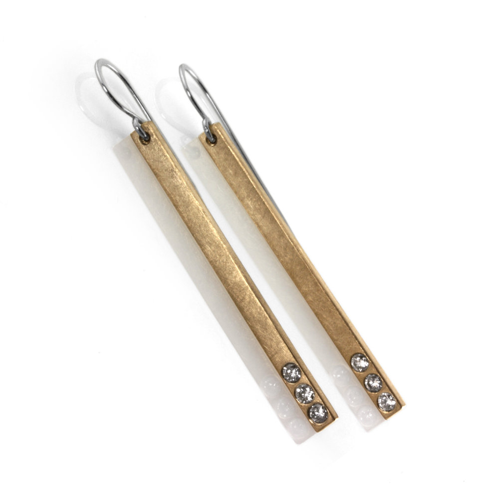 18k gold diamond sticks