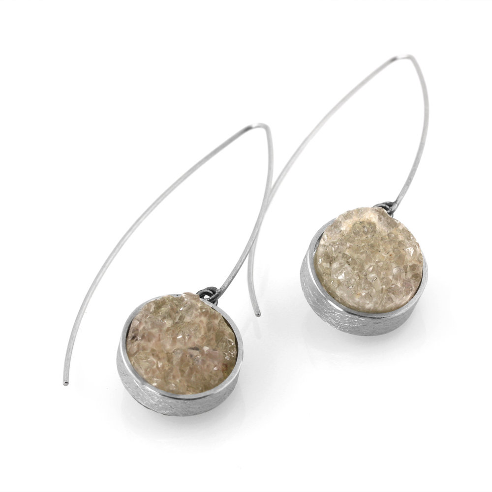 earthy drusy earrings
