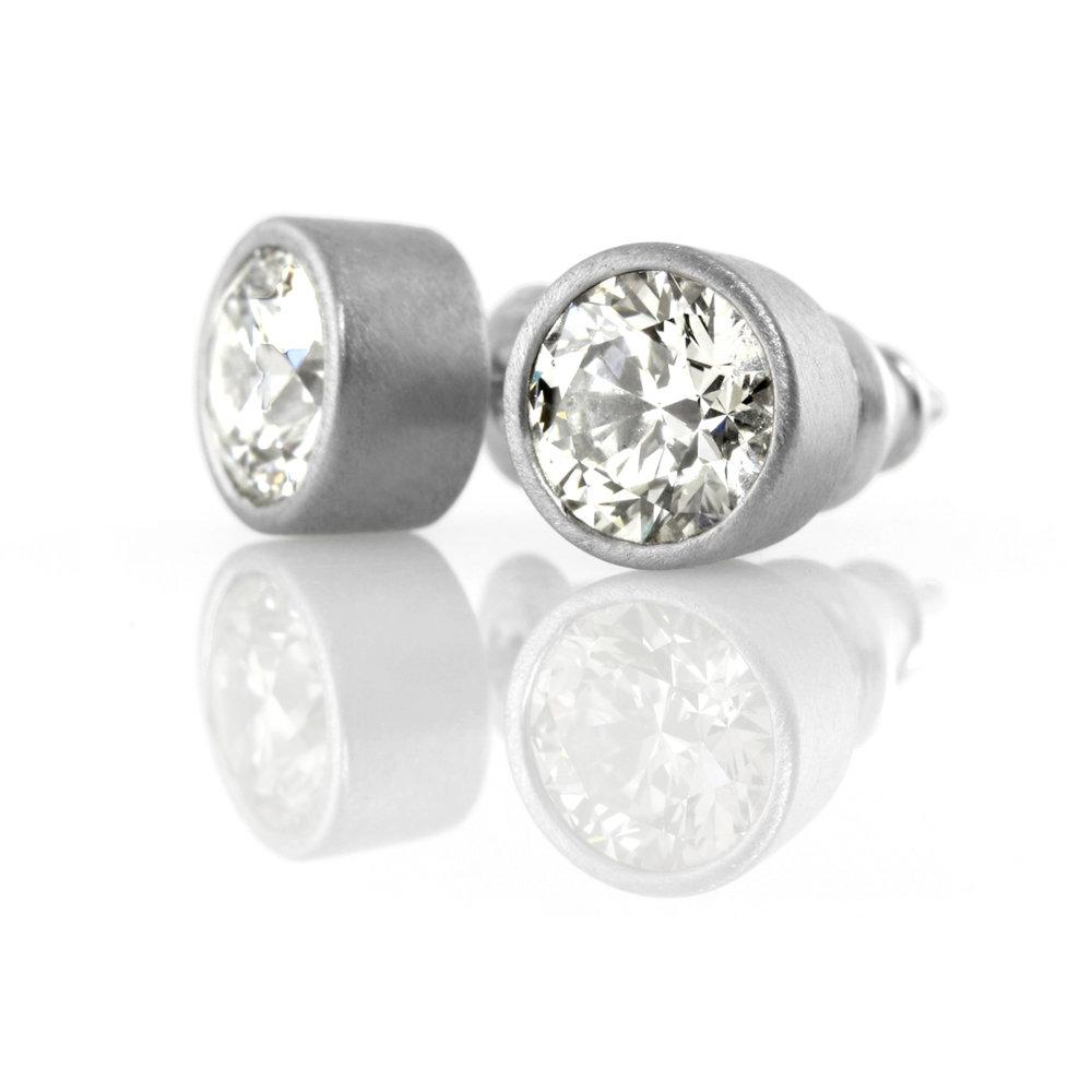 palladium post earrings