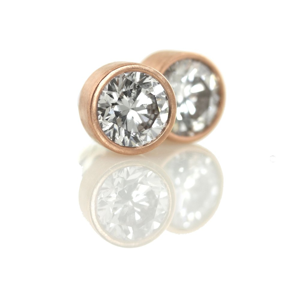 rose gold post earrings