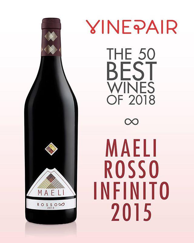Oggi è un giorno speciale per il Rosso Infinito #Maeli, inserito da @vinepair tra i 50 migliori vini del 2018!  Venite a degustarlo l'8 e 22 Dicembre a #leStrennediMaeli, nella nostra cantina di Baone!