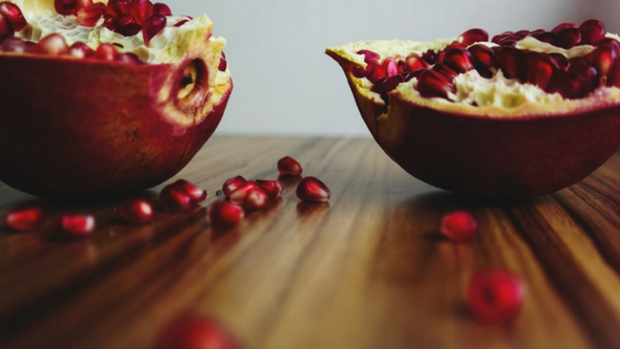 luck new year's food pomegranate