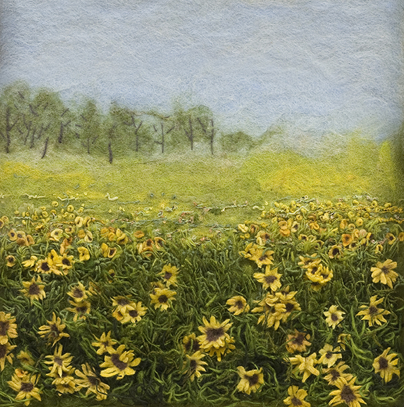 """Field with Daisies"" by Barbara Cade ©2008"