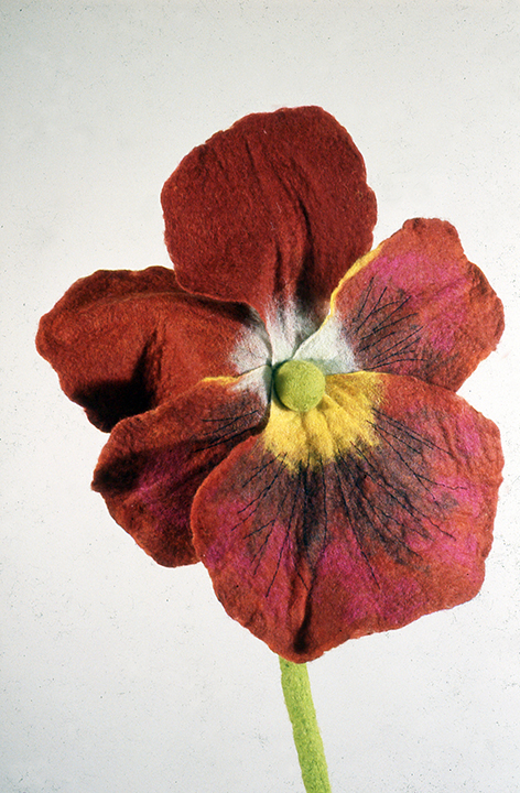 """Red Pansy"" by Barbara Cade ©1994"