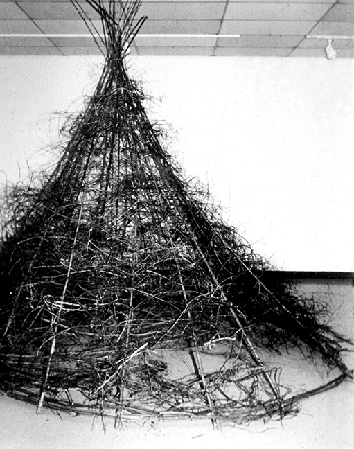 """Tepee/Shelter"" Installation by Barbara Cade ©1988"