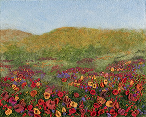 """Flower Field"" by Barbara Cade ©"