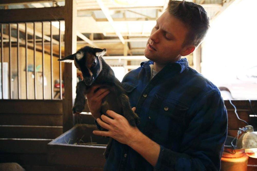 Chris Stem - owner of Harlow Ridge Farm. Co-owner of Ashland Meat Company