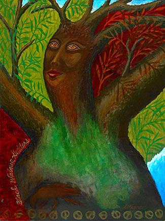 Black Walnut Tree Goddess by Annette Wagner, 2009