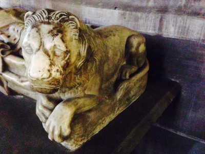 Lion at Notre Dame Cathedral