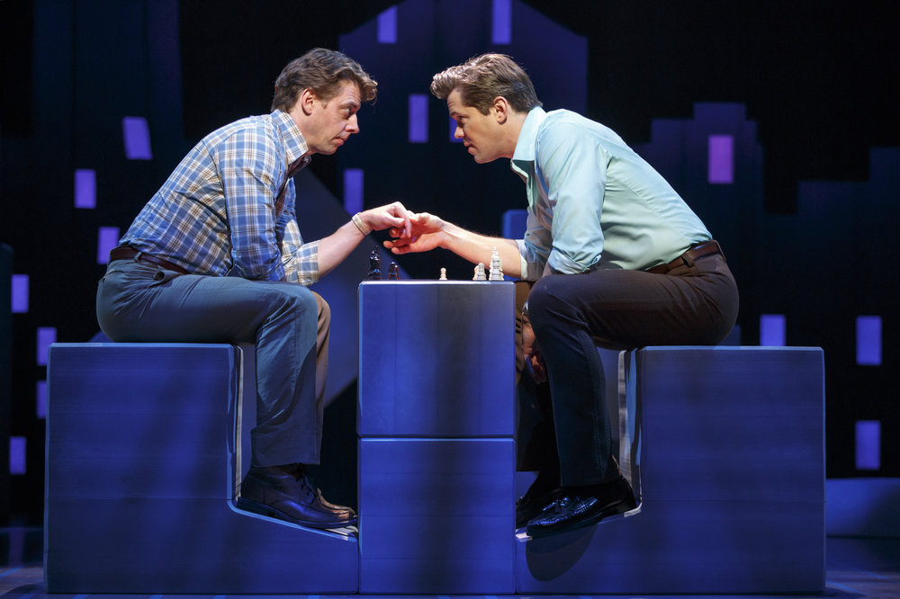 Christian Borle and Andrew Rannells in LCT's revival of  Falsettos.  (Joan Marcus)