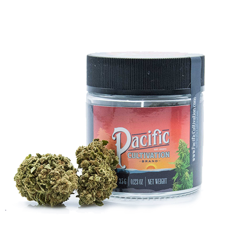 Pacific Cultivation,  Docs OG (Indica Hybrid)  1/8 Packaged Flower, Outdoor Light Dep