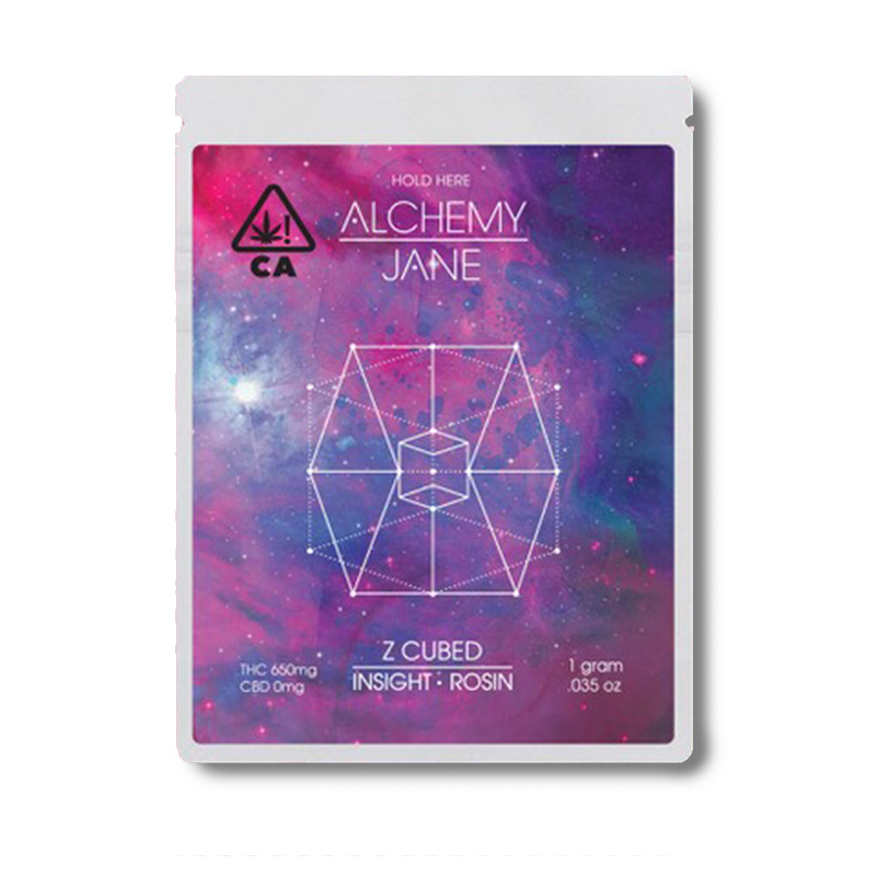 Alchemy Jane , Z Cubed  1g Full Spectrum Solventless Rosin
