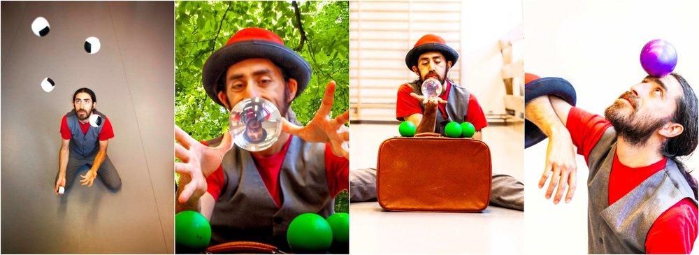 Sjongleringskunstner Diego Belda. FOTO: Hielke Gerritse
