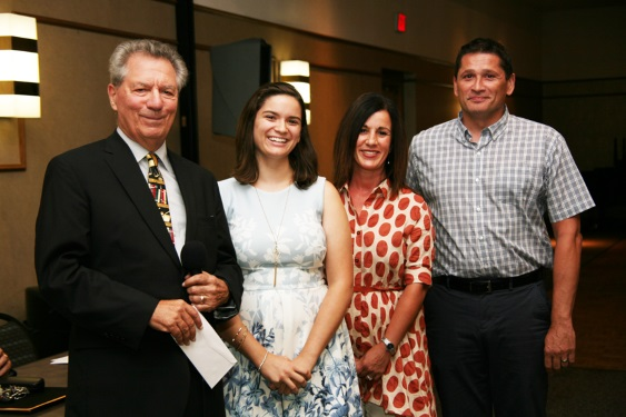 Judge Perk, LoConti Family Awardee Elizabeth Vukovic, step-mother, father Cleveland PO George