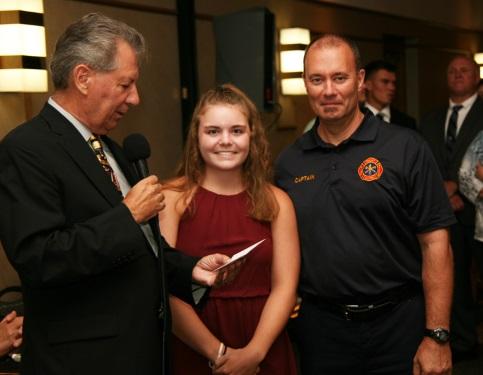 Judge Perk, S-G winner Claire Badnarski & her father Rocky River FGF Kevin Badnarski