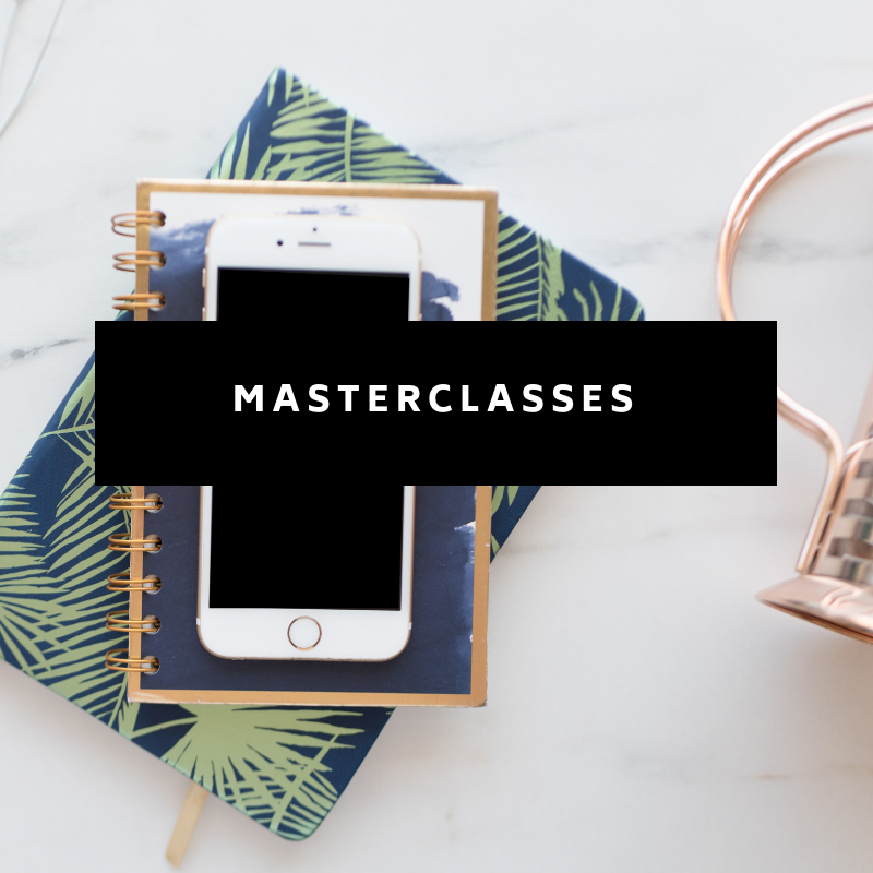 Every month we focus on a different topic and host a masterclass on that subject. These workshops will keep you up-to-date on latest strategy, introduce you to new guest experts in online business, and give you all the continued education you need.