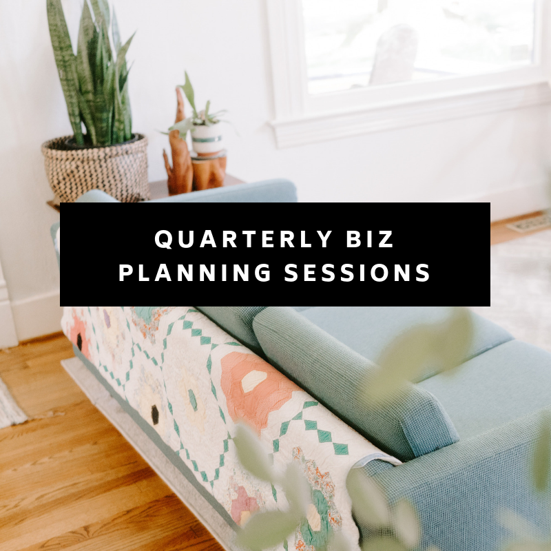 Now this is fun. Every quarter we get together for LIVE business planning strategy sessions. Grab that coffee and co-work with the rest of the community to review your quarter, set new goals, and map out your next 90 days in business.