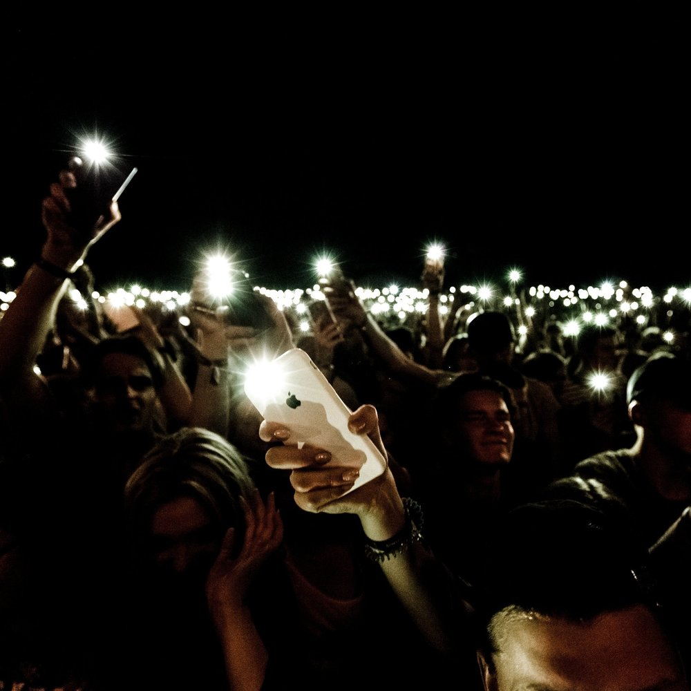 Lightshows - Create stunning light shows using with your audiences phones, scripted in time to music or freestyled.