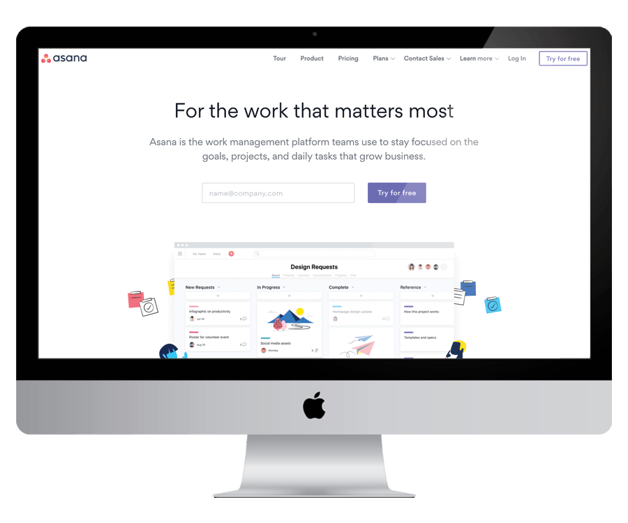 Asana - For digital project and task management