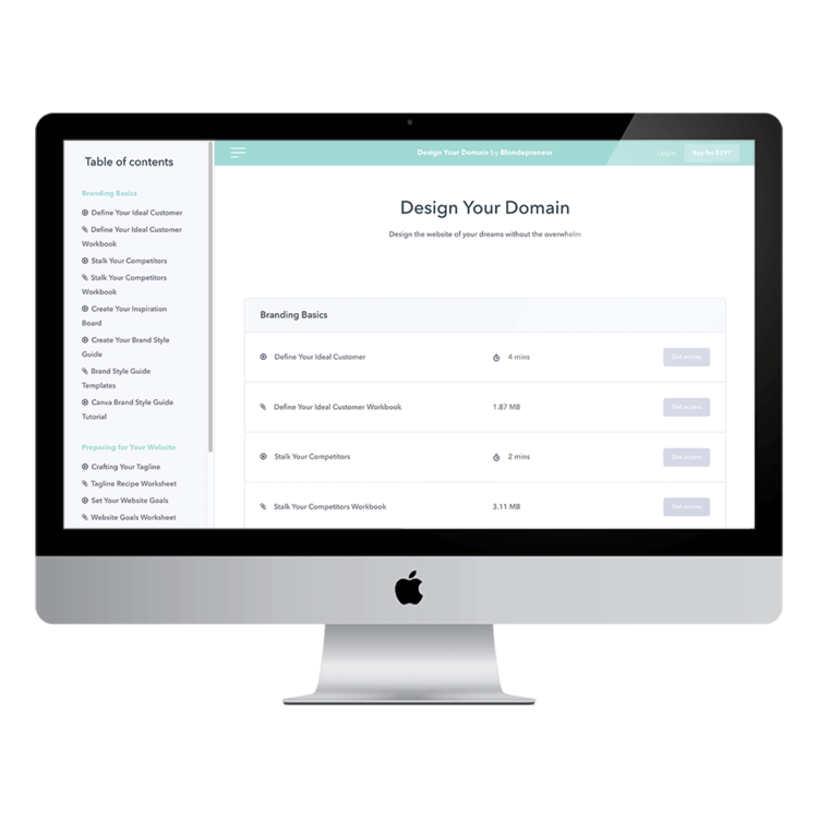 design your domain modules mockup