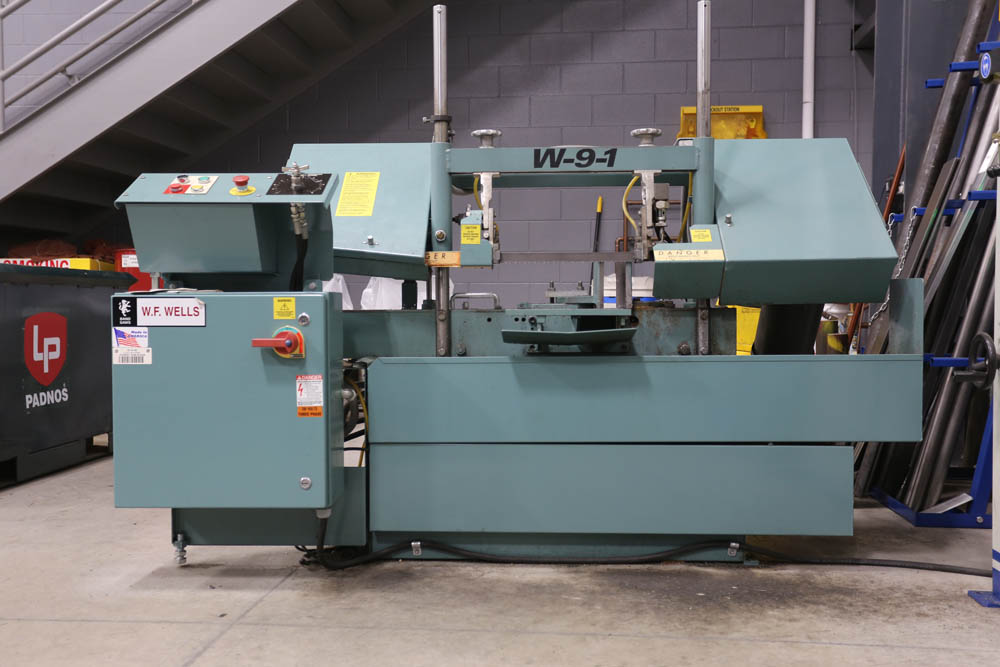 W.F. Wells horizontal band saw