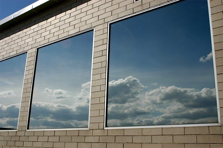 MIRROR WINDOW FILM    With the exterior reflectivity of this film, you can enjoy all aspects of privacy and block solar heat, keeping you comfortable and saving on energy costs. Silver available in 20% VLT.