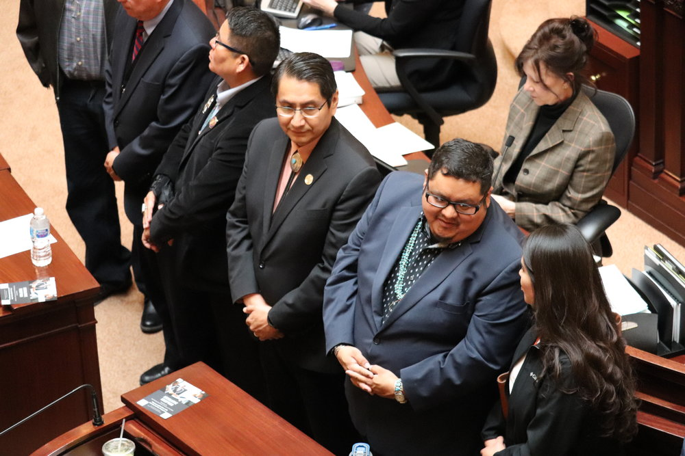 Representatives from the Navajo tribe were honored on the Senate floor.