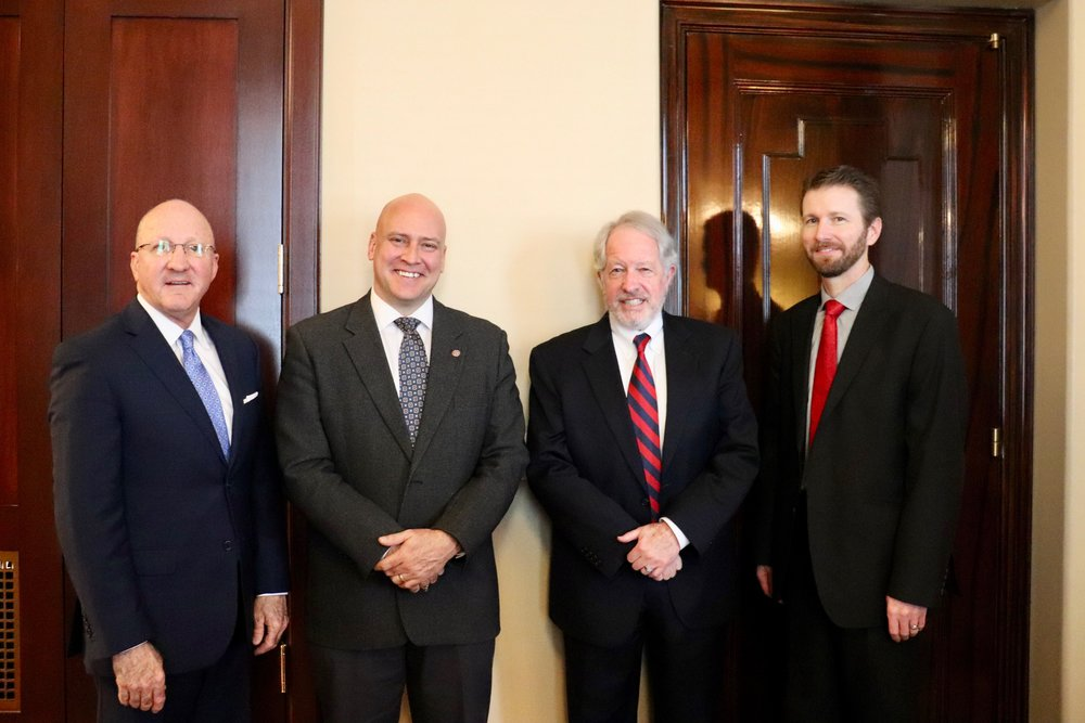 From left: David R. Clark, Shawn Millne, Stephen Roth, Greg Johnson