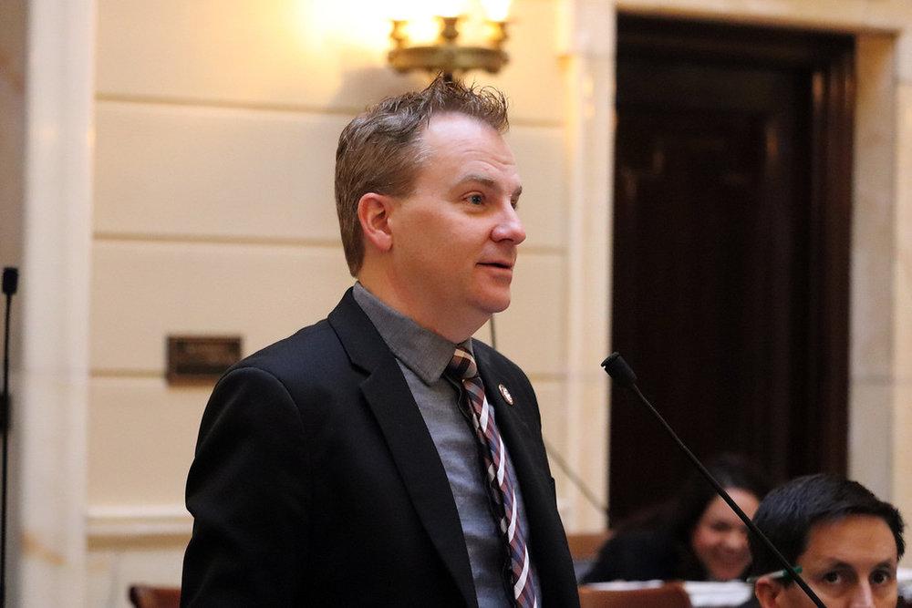 Sen. Fillmore on the Senate floor.