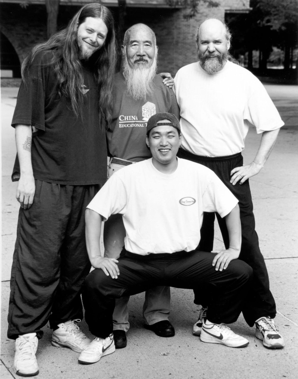 Master Gabriel Chin, with Master Kim, Grandfather Jefff Noftz (lineage elder) and another student of Master Chin