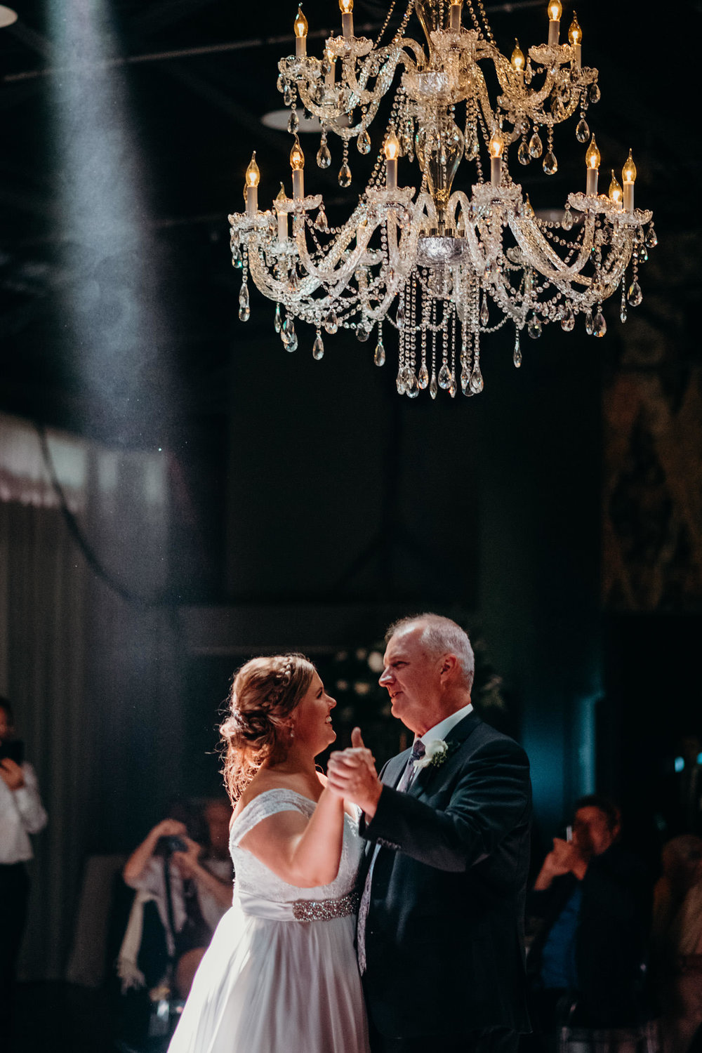 chandeliers for weddings hire