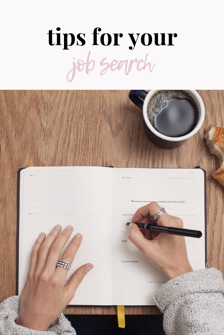 tips for your job search | job search tips | organization tips | stay organized | job tips | post-grad job search tips | s'more happiness
