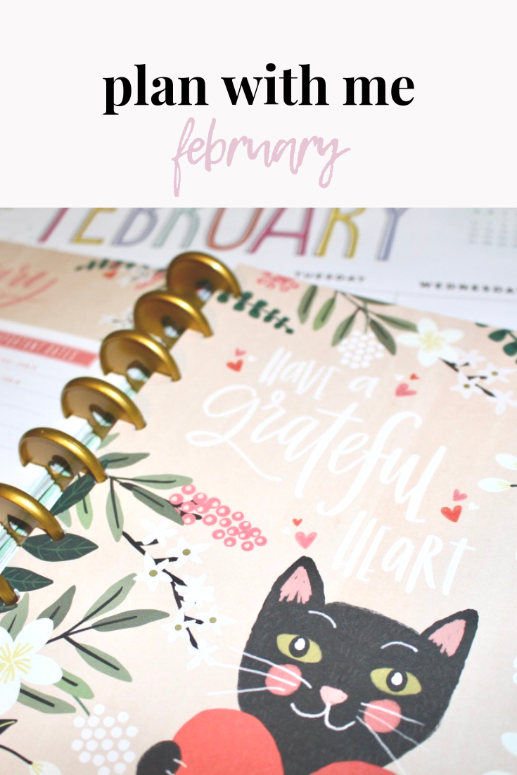 plan with me | february monthly | happy planner plan with me | planner babe | happy planner | february happy planner plan with me | s'more happiness