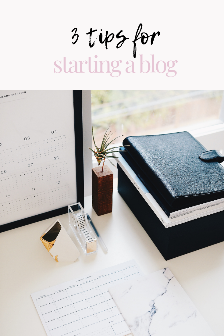 3 tips for starting a blog | blogging tips | blogger tips | how to start a blog | s'more happiness
