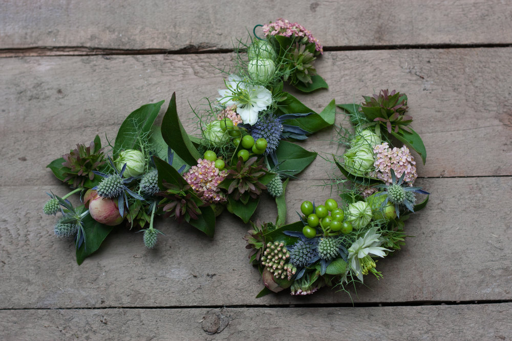 Crowned in Flowers - Workshop Fee: $65Sunday, July 14, 1pm-3pmWalk through our flower fields as if in a mid-summers dream, harvesting whatever catches your eye for this floral frolic. Back at the farm studio, we will demonstrate how to make wearable florals such as floral crowns, demi-crowns, flower combs and pins, anything that will adorn you in beauty! Workshop attendees will be let loose with their florals to create their own crowns to stroll through the flower fields with, and have a new technique to boot!