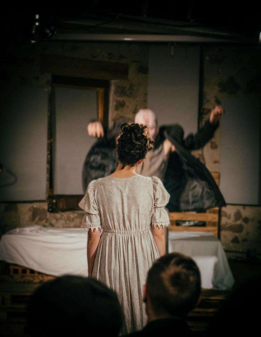 Alastar Dimitrie as Adam, Mary Wardell as Elizabeth. Photo by Gavin Gibson.