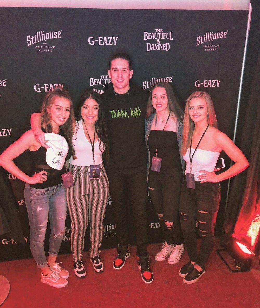 Christina, Chandra, Madison and Jessie, VIP at G-Eazy