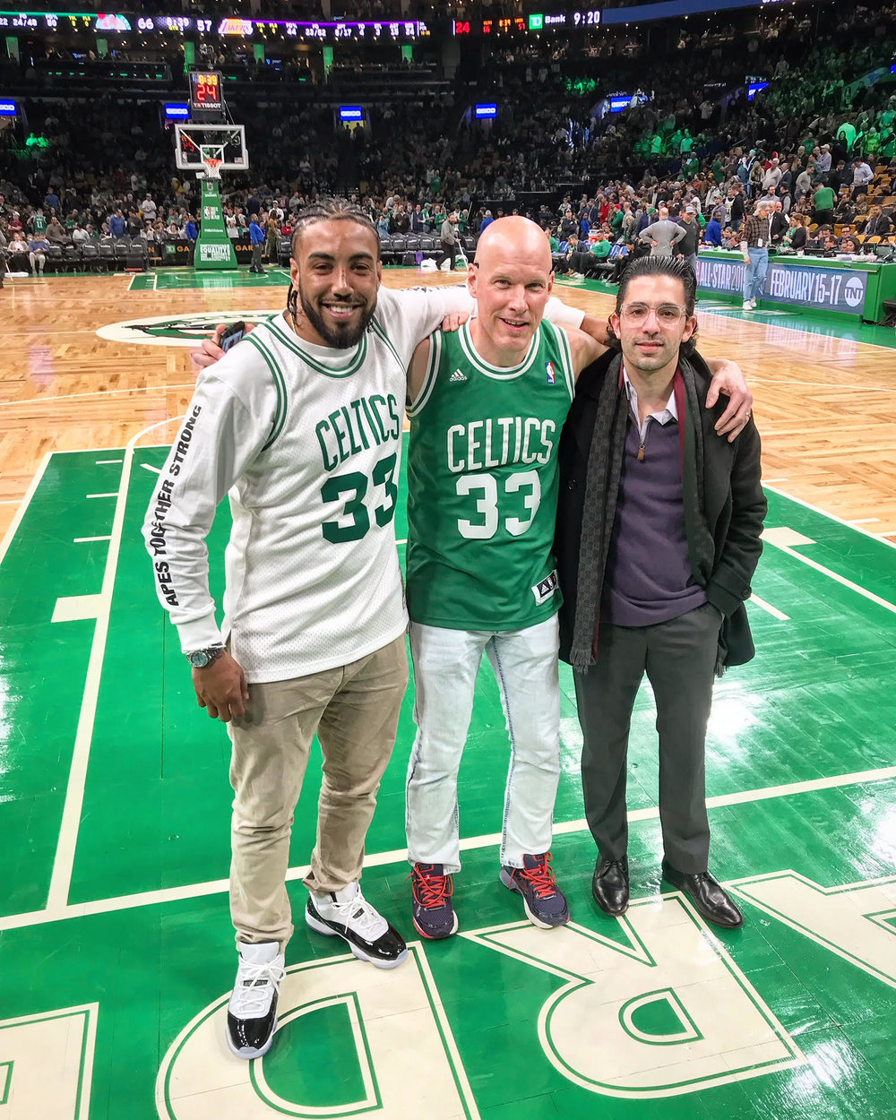 celtics brandon with clients feb 7 lakers on court.jpg