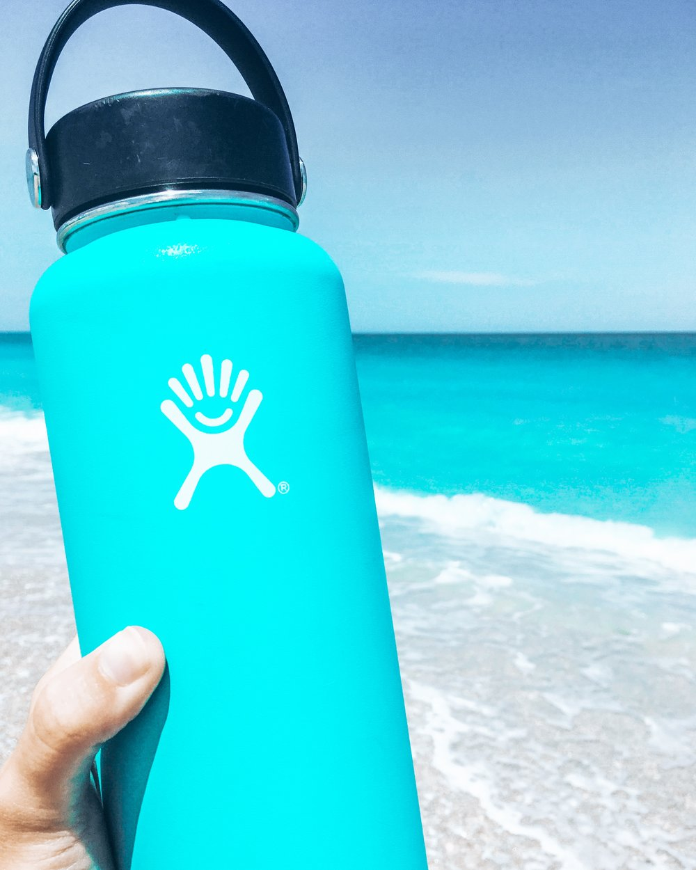 Bonus points if your water bottle matches the color of the ocean -