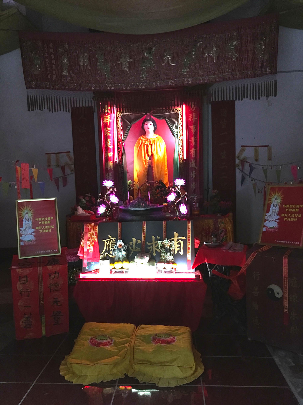 The shrines glow beautifully at night