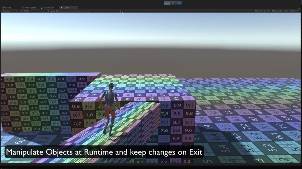 Manipulate Objects in the Game and the script will save them back to the editor on exit.