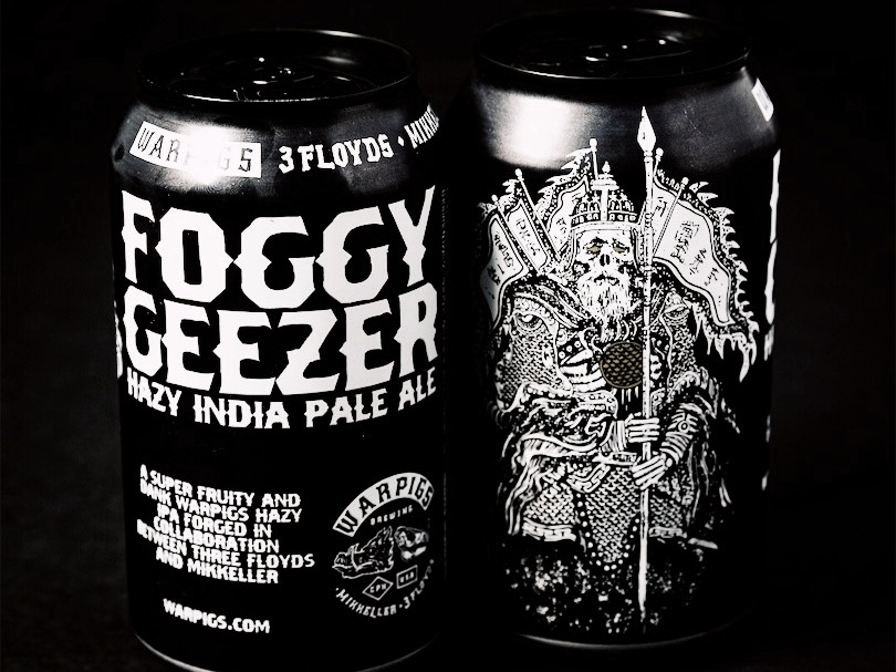 Foggy Geezer - A HAZY, FRUITY + HEAVILY DRY-HOPPED IPAABV 6.8% IBU 70